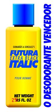 Chega de desodorantes vencidos! Use Futura Extra Black Italic. O desodorante vencedor!