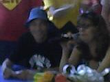 Carlos Seidl (Seu Madruga) e Cecília Lemes (Chiquinha)