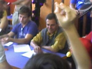Gustavo Berriel (Nhonho e atual Michael Knight) e Silton Cardoso (Godines)