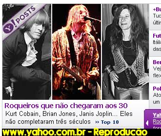 www.yahoo.com.br / Reprodução